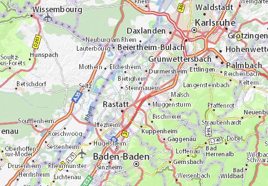 Ötigheim Map