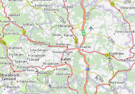 Hüttlingen Map