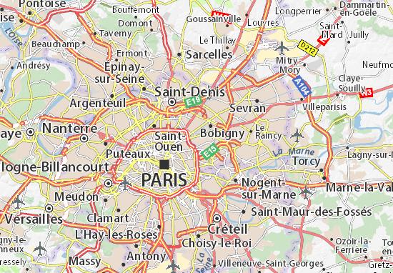Karte Stadtplan Pantin