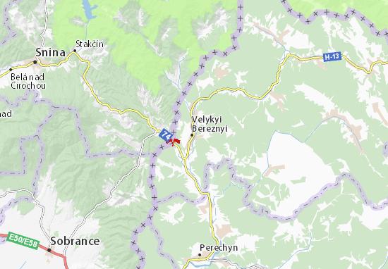 Velykyi Bereznyi Map