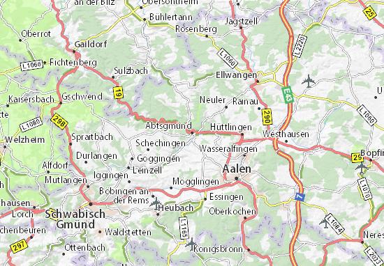Abtsgmünd Map