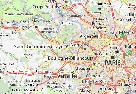 Mapa Plano Le Pecq