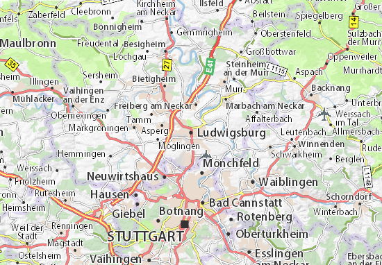 Karte Stadtplan Ludwigsburg