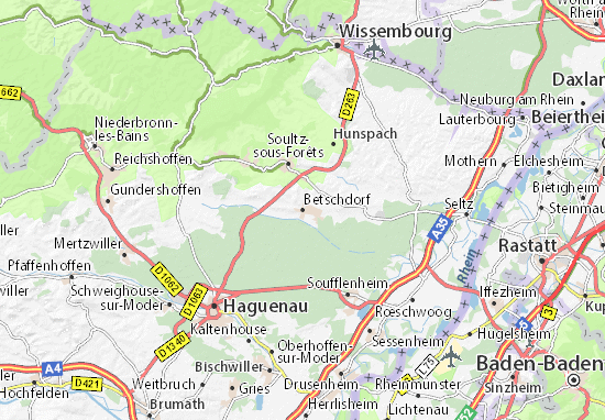 Betschdorf Map