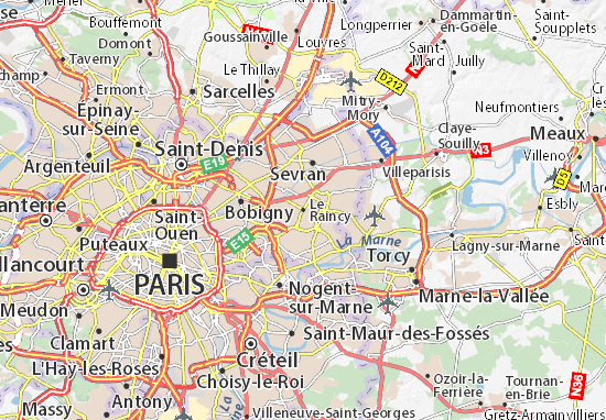 Le Raincy Map