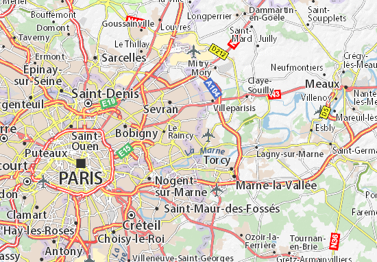 Montfermeil Map