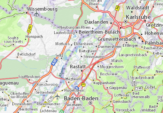 Karte Stadtplan Steinmauern