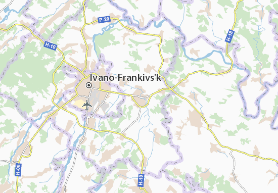 Mapas-Planos Tysmenytsya