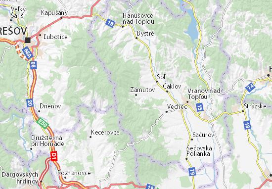 Zámutov Map
