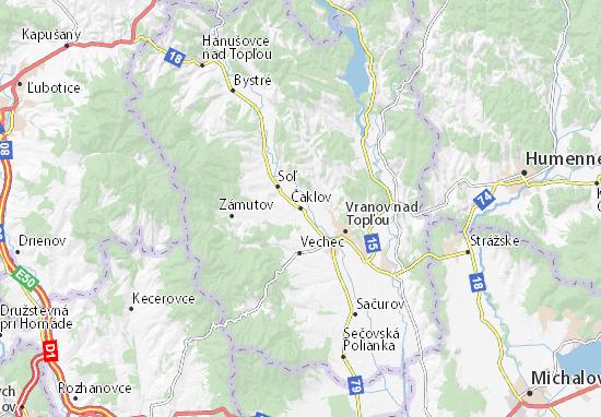 Čaklov Map