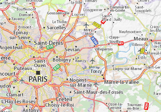 map of clichy sous bois michelin clichy sous bois map viamichelin. Black Bedroom Furniture Sets. Home Design Ideas