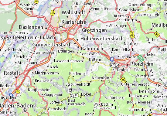 Kaart Plattegrond Langensteinbach