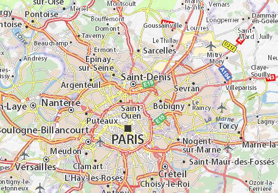 Karte Stadtplan Aubervilliers