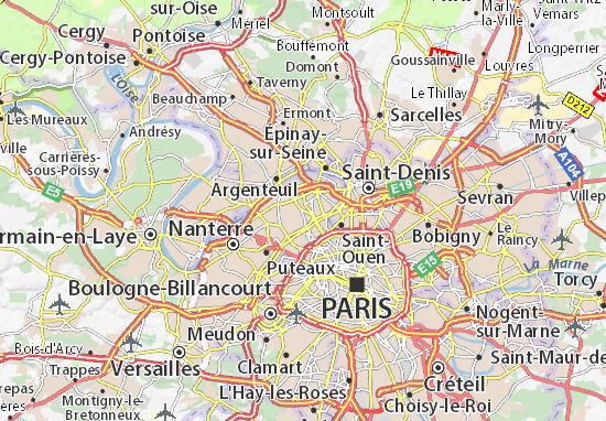 Mapas-Planos Asnières-sur-Seine