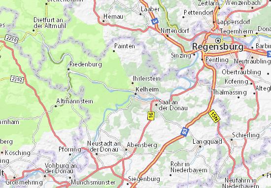 Karte Stadtplan Kelheim