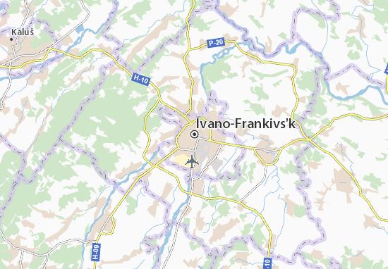 Mapas-Planos Ivano-Frankivs'k