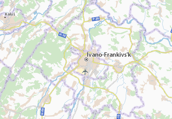 Kaart Plattegrond Ivano-Frankivs'k