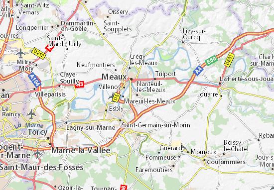 Mapa Plano Nanteuil-lès-Meaux