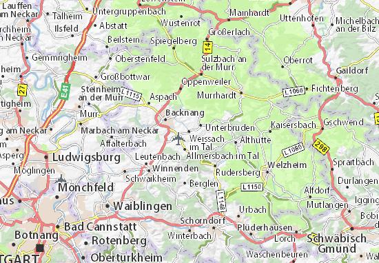 Mapas-Planos Weissach im Tal