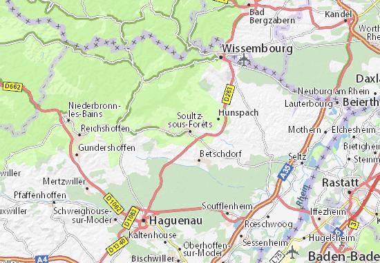 Carte-Plan Soultz-sous-Forêts