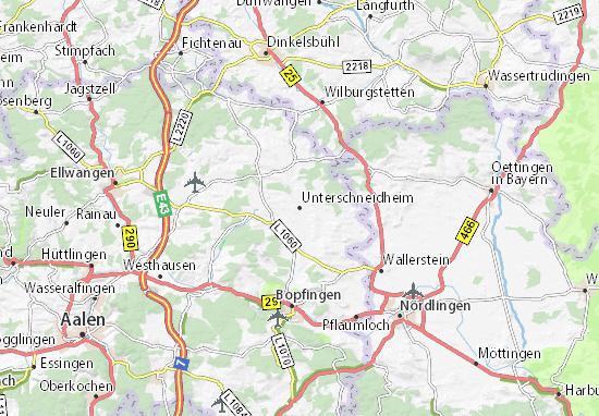 Unterschneidheim Map
