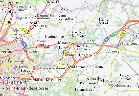Villenoy Map