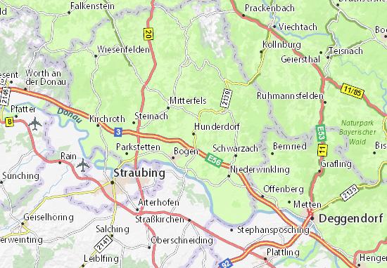 Karte Stadtplan Hunderdorf