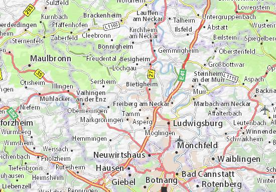 Karte Stadtplan Bissingen