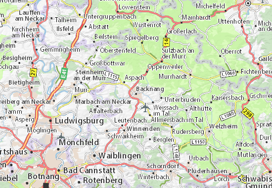 Carte-Plan Backnang