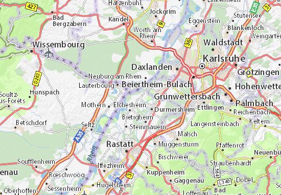 Au am Rhein Map