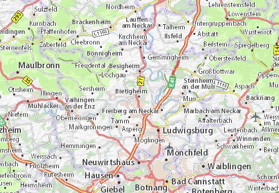 Karte Stadtplan Bietigheim