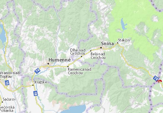 Dlhé nad Cirochou Map