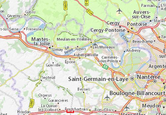 Carte-Plan Flins-sur-Seine