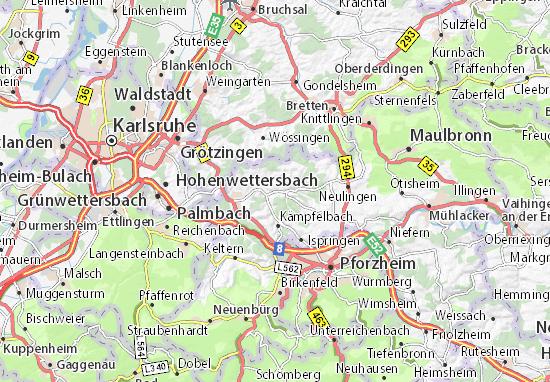 Mapas-Planos Königsbach-Stein