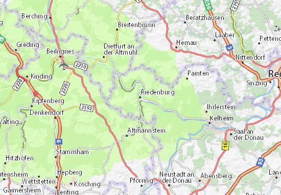 Karte Stadtplan Riedenburg