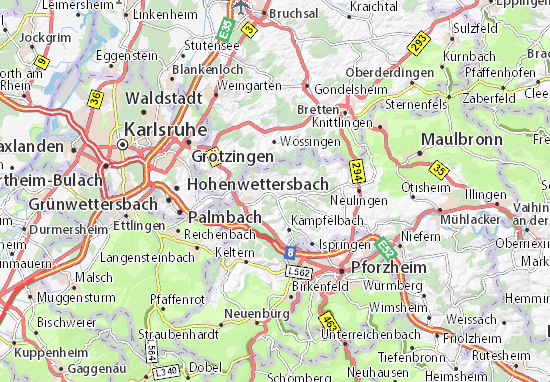 Carte-Plan Königsbach