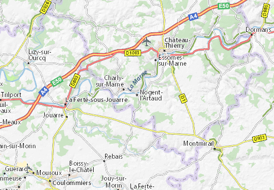 Mapa Plano Nogent-l'Artaud