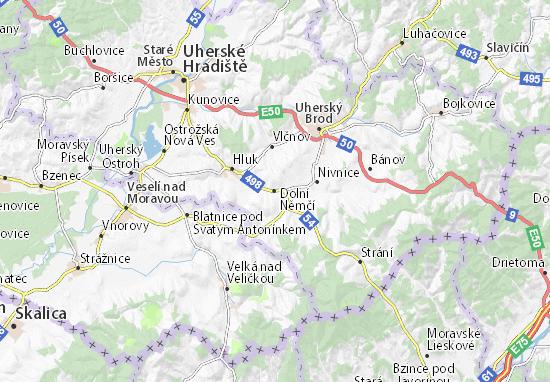 Dolní Němčí Map