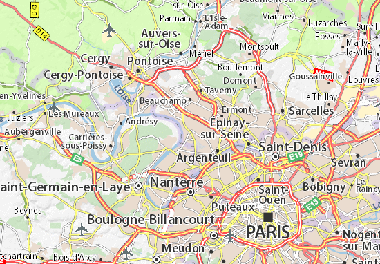 Carte d taill e cormeilles en parisis plan cormeilles en for Garage des etoiles montigny les cormeilles