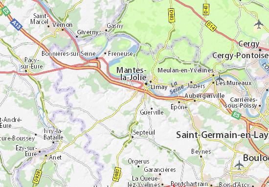 Carte-Plan Magnanville