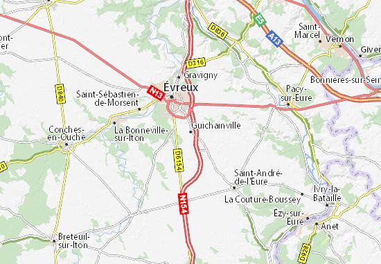 Guichainville Map