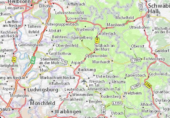 Mapas-Planos Oppenweiler