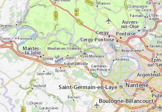 Mapa Plano Les Mureaux