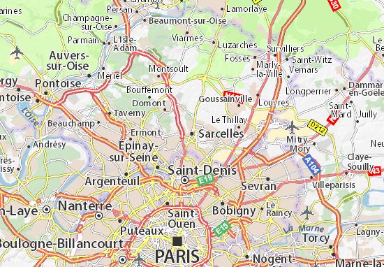Mapa Sarcelles