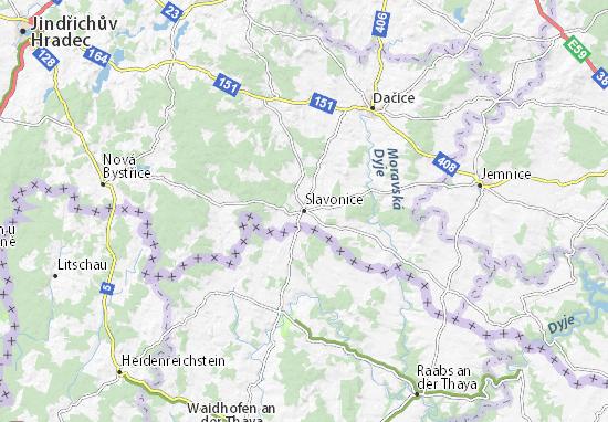 Carte-Plan Slavonice