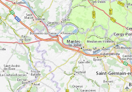 Carte-Plan Rosny-sur-Seine