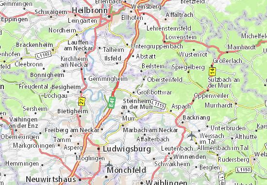 Mapa Plano Großbottwar