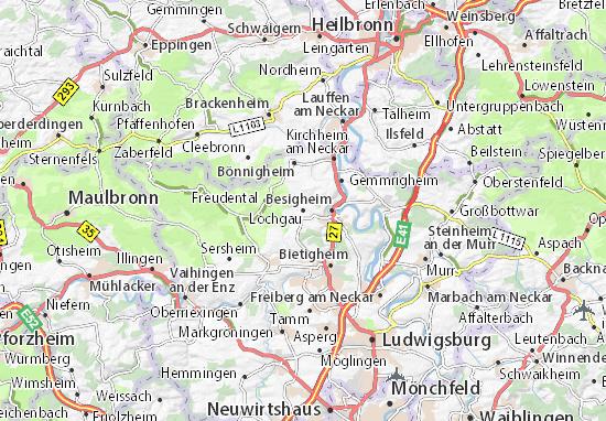 Mapas-Planos Löchgau