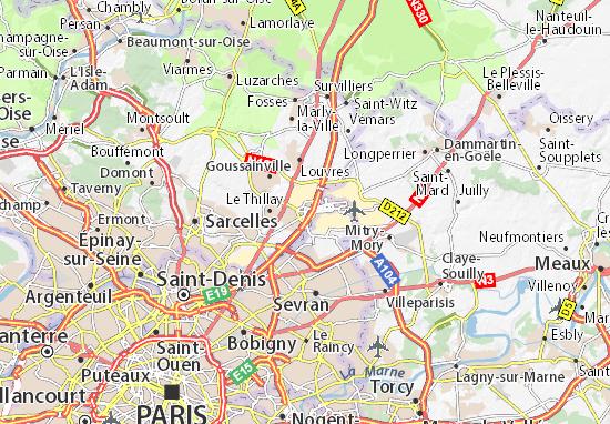 Carte-Plan Roissy-en-France
