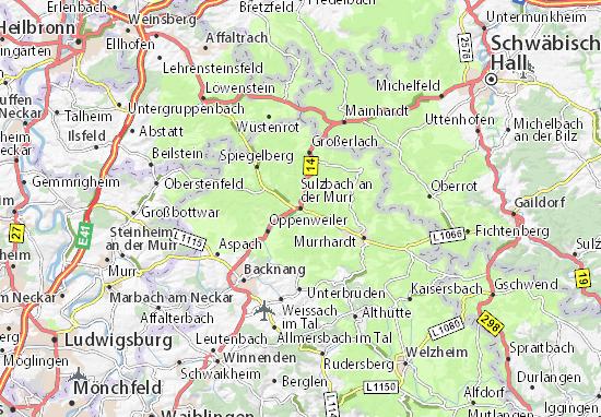 Mapas-Planos Sulzbach an der Murr